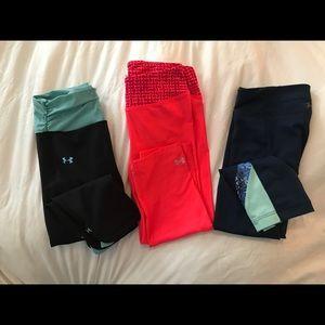 Under Armour leggings (3 pair)